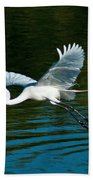 Lucky Egret Beach Towel