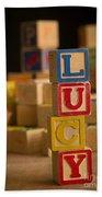Lucy - Alphabet Blocks Beach Towel