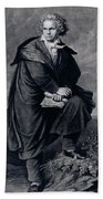 Ludwig Van Beethoven , German Composer Beach Towel