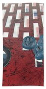 Lug Nuts On Grate And Circle H Beach Towel
