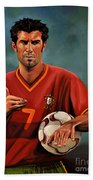 Luis Figo Beach Towel by Paul Meijering