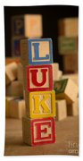 Luke - Alphabet Blocks Beach Towel