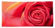 Luminous Red Rose 1 Beach Towel
