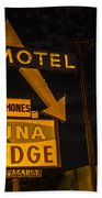 Luna Lodge Night Beach Towel