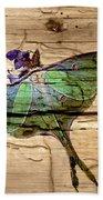 Luna Moth Worm Wood  Beach Towel