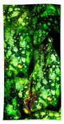 Lungwort Leaves Abstract Beach Towel