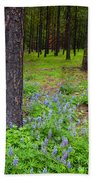 Lupine Forest Beach Towel