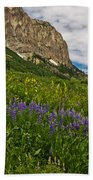 Lupines On The Hillside Beach Towel