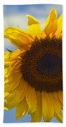 Lus Na Greine - Sunflower On Blue Sky Beach Towel