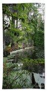 Lush Swamp Vegetation Beach Towel
