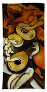 Lute Players Beach Towel