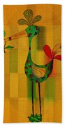 Lutgarde's Bird - 061109106-wyel Beach Towel by Variance Collections
