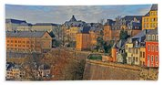 Luxembourg Fortification Beach Towel