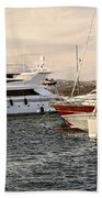 Luxury Boats At St.tropez Beach Towel