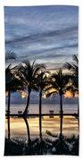 Luxury Infinity Pool At Sunset Beach Towel