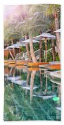 Luxury Pool With Loungers Beach Towel