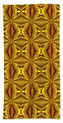 Luxury Red And Gold Christmas Kaleidoscope Beach Towel