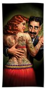 Lydia The Tattooed Lady Beach Towel