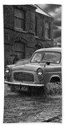 Lye Rain Storm, Ford Prefect Van - 1960's    Ref-244 Beach Towel