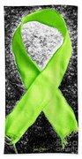 Lyme Disease Awareness Ribbon Beach Towel
