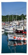 Lyme Regis Harbour On A July Morning Beach Towel