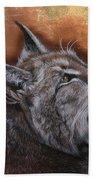 Lynx Face Beach Towel