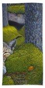 Lynx In The Sun Beach Towel
