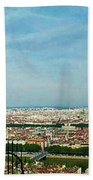 Lyon From The Basilique De Fourviere-color Beach Towel