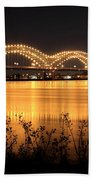 The Hernando De Soto Bridge M Bridge Or Dolly Parton Bridge Memphis Tn  Beach Towel