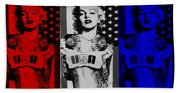M M U S A In Red White And Blue Beach Towel