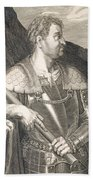 M Silvius Otho Emperor Of Rome Beach Towel by Titian