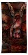Macabre - Dolls - Having A Friend For Dinner Beach Towel by Mike Savad