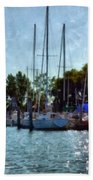 Macatawa Masts Beach Towel