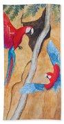 Macaw Claylick Beach Towel