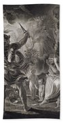 Macbeth, The Three Witches And Hecate Beach Towel