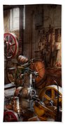 Machinist - A Room Full Of Memories  Beach Towel by Mike Savad