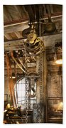 Machinist - In The Age Of Industry Beach Towel by Mike Savad