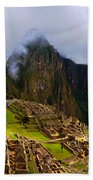 Machu Picchu Overlook Beach Towel