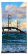 Mackinac Among The Waves Beach Towel