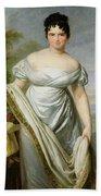 Madame Tallien 1773-1835 Oil On Canvas Beach Towel