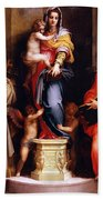 Madonna Of The Harpies Beach Towel