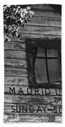Madrid Union Sunday School Ghost Town Madrid New Mexico 1968-2008 Beach Towel