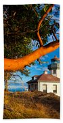 Madrone And Lighthouse Beach Towel