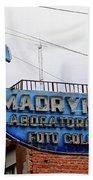 Madryn Lab Whale Sign Beach Towel