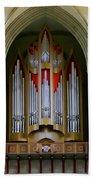 Magdeburg Cathedral Organ Beach Towel