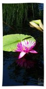 Magenta Lily Monet Beach Towel
