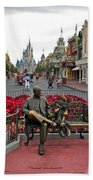 Magic Kingdom Walt Disney World 3 Panel Composite Beach Towel