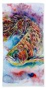 Magic Of Arowana Beach Towel by Zaira Dzhaubaeva
