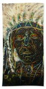 Magic Powers,  Native American Indian Chief Beach Towel