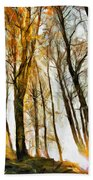 Magical Forest - Drawing Beach Towel